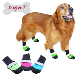 Puppy Love Reflective Waterproof Protective Shoes for Medium Breed Dogs, green, medium