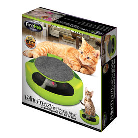 Feline Frenzy with Scratch Pad for Cats, green