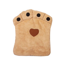Nunbell Paw Shaped Cushion Bed for Medium to Large Dogs & Cats, beige, 27 x 34 inch