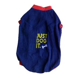 Rays Fleece Warm Embroidery Tshirt for Medium Dogs, navy blue, 22 inch