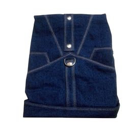 Zorba Designer Denim Jacket for Small Breed Dogs, 16 inch, blue