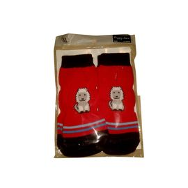 Puppy Love Anti Skid Socks for Large Breed Dogs, red lion, 2xl