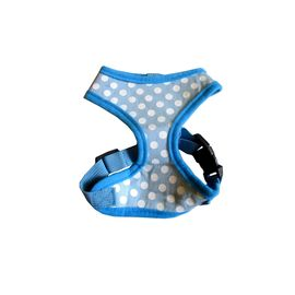 Puppy Love Spotted Cotton Vest Harness for Small Breed Dogs, large, blue