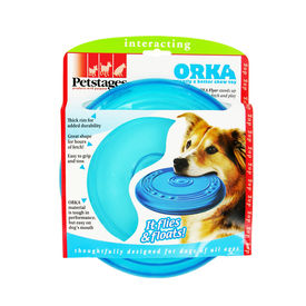 Petstages USA Orka Mini Flyer Dog Toy, 6 inch, blue