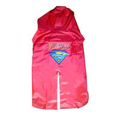 Rays Premium SuperMan Print Raincoat for Large Dogs, red, 26 inch