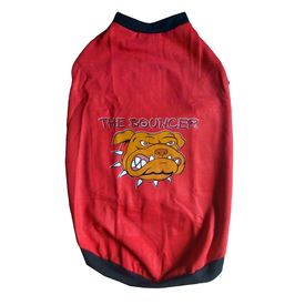 Rays Fleece Warm Rubber Print Tshirt for Large Dogs, 26 inch, red bouncer