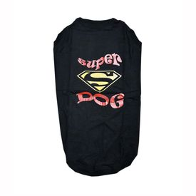 Zorba Designer Sports Collection Tshirt for Giant Breed Dogs, red super dog, 32 inch