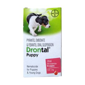 Bayer Drontal Deworming Suspension for Puppies, 20 ml