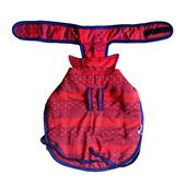 Rays Fleece Foam Warm Winter Coat for Small Dogs, 18 inch, red zig zag