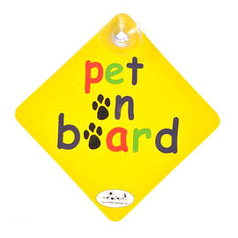 Vacky Pet The Bright Side Car Fun Signs, pet on board