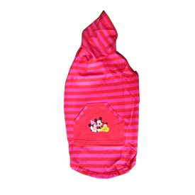 Zorba Designer Striped Hoodies for Small Dogs, 18 inch, pink
