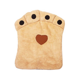 Nunbell Paw Shaped Cushion Bed for Large Dogs & Cats, beige, 32 x 40 inch