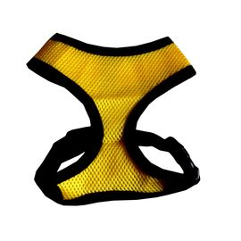 Puppy Love Air Mesh Harness for Toy To Small Breed Dogs, yellow, medium