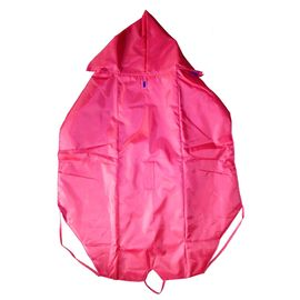 Premium Double Sided Reversable Raincoat for Large Dogs, 28 inch, red blue