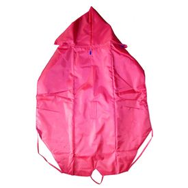 Premium Double Sided Reversable Raincoat for Large Dogs, 26 inch, red blue