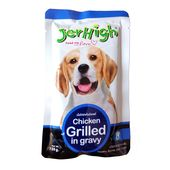 JerHigh Chicken Grilled in Gravy Dog Wet Food, 120 gms