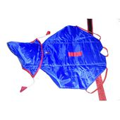 Premium Double Sided Reversable Raincoat for Small Dogs, 18 inch, red blue