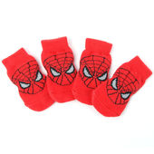 Puppy Love Anti Skid Socks for Small Breed Dogs, red spiderman, small