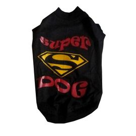Zorba Designer Sports Collection Tshirt for Large Breed Dogs, black super dog, 26 inch