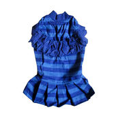 Zorba Designer Striped Frock for Small Breed Dogs, blue, 20 inch