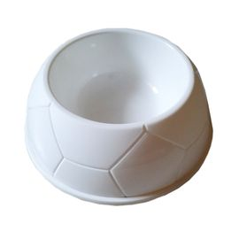 Imported Thick Plastic Medium Pet Feeding Bowl, white, 7 inch