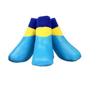 Puppy Love Neon Anti-Slip Waterproof Sock Shoes for Medium to Large Breed Dogs, large, neon blue