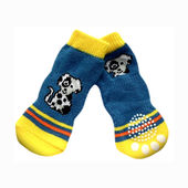 Puppy Love Anti Skid Socks for Large Breed Dogs, blue dog, 2xl