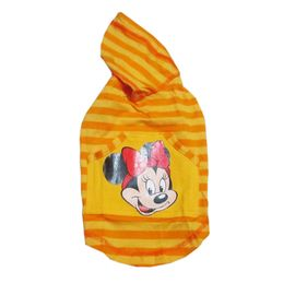 Zorba Designer Striped Hoodie for Toy Dogs, 14 inch, yellow with disney print