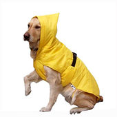 Zorba Designer Dual Protection Safety Raincoat for Large Dogs, yellow, 28 inch