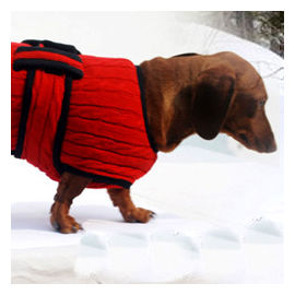 Zorba Designer Premium Winter Sweater for Large Breed Dogs, red, 28 inch