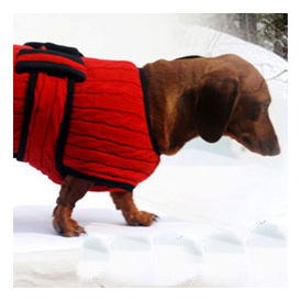 Zorba Designer Premium Winter Sweater for Large Breed Dogs, red, 26 inch