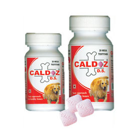 Caldoz D. S. Calcium Tablets Dog Supplement, 40 tablets