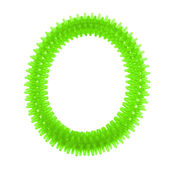 Nunbell Latex Spiked Play Ring for Dogs and Cats, green, large