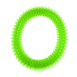 Nunbell Nylon Spiked Play Ring for Dogs and Cats, green, large