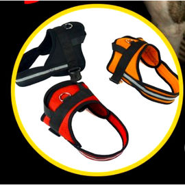 Puppy Love Working Dog Harness for Large Dogs, red