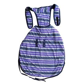 Rays Fleece Foam Warm Winter Coat for Large Dogs, 28 inch, purple stripes