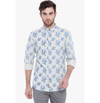 Breakbounce Baron Men's Casual Slim Fit Shirt, l,  blue