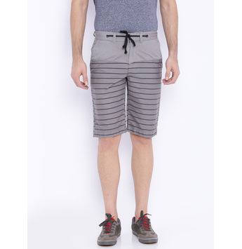 Breakbounce Erwin Printed Slim Fit Shorts,  mid grey, 30