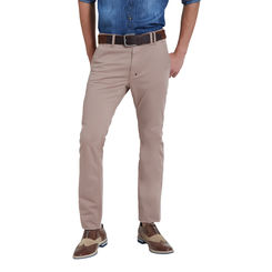 Breakbounce Alcadz Fossil Brown Slim Fit Solid Trousers,  fossil brown, 28