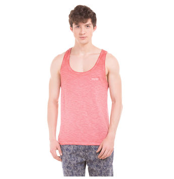 TRENT Cayenne Red Slim Fit Solid Vest,  red, xl