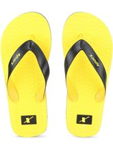 Sparx Casual Rubber Slipper (SFG-2029-YLW-BLK), 7, yellow and black