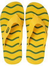Sparx Casual Rubber Slipper (SFG-2009-GRN-YLW), 9, green and yellow