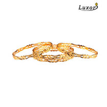 Luxor Set of 4 Cut work Gold Plated Bangles 7005