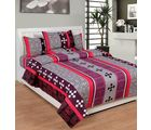 Best Deal Double Bed Sheet With Pillow Cover Cottonwa0032, multicolor