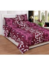 Best Deal Double Bed Sheet With Pillow Cover Cottonwa0027, multicolor