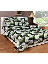 Best Deal Double Bed Sheet With Pillow Cover Heavy Cotton004, multicolor
