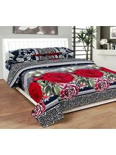 Best Deal Double Bed Sheet With Pillow Cover Heavy Cotton0015, multicolor