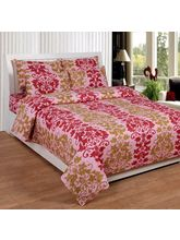 Best Deal Double Bed Sheet With Pillow Cover Cottonwa0010, multicolor