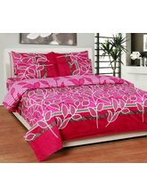 Best Deal Double Bed Sheet With Pillow Cover Poly Cotton001, multicolor