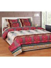 Best Deal Double Bed Sheet With Pillow Cover Poly Cotton005, multicolor